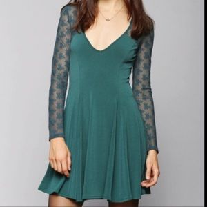 Urban Outfitters · Kimchi Blue Teal Lace Dress XS